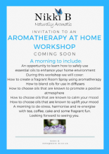 Aromatherapy in your Home Workshop